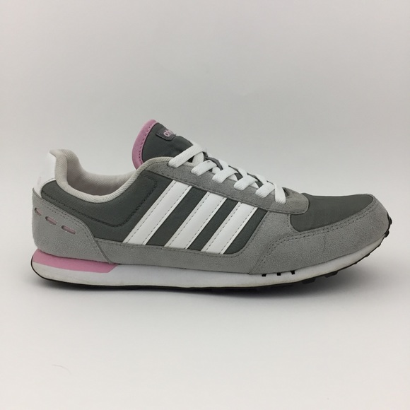 Adidas Neo City Racer Women's Gray Pink Shoes 9.5